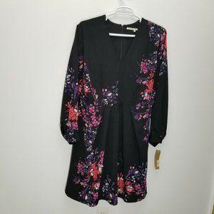 Rachel Roy Dress 24W Curvy Floral Tie Back New